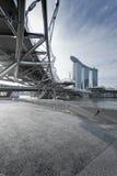 Baia del porticciolo, Singapore Fotografia Stock