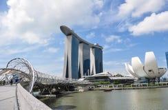 Baia del porticciolo, Singapore Immagine Stock