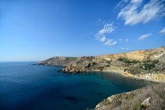 Baia del rih di Fomm Ir, Malta Fotografia Stock Libera da Diritti