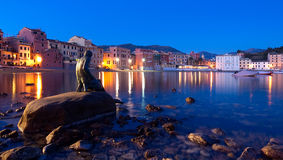 Baia del Silenzio к ноча Стоковое фото RF