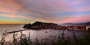 Baia del Silenzio, Sestri Levante l'Italie Ligurie image libre de droits