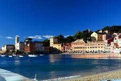 Baia del Silenzio, Sestri Levante. La Ligurie, Italie Photographie stock