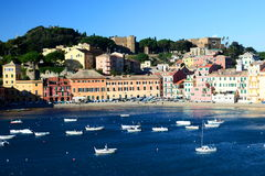 Baia del Silenzio, Sestri Levante. La Ligurie, Italie Images libres de droits