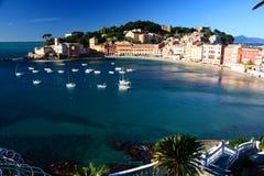 Baia del Silenzio, Sestri Levante. Liguria, Italia Foto de archivo libre de regalías