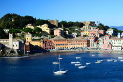 Baia del Silenzio, Sestri Levante. Liguria, Italia Imagenes de archivo