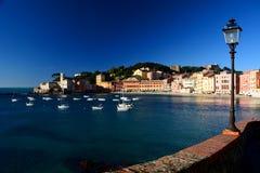 Baia del Silenzio, Sestri Levante. Liguria, Italia Imágenes de archivo libres de regalías