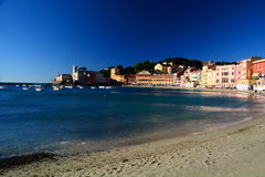 Baia del Silenzio, Sestri Levante. Liguria, Italia Fotos de archivo
