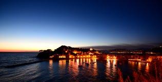 Baia del Silenzio, Sestri Levante. Liguria, Italia Fotos de archivo libres de regalías