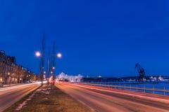Baia del sud del porto di Lulea Fotografie Stock