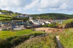 Baia del sud Devon England del sud Regno Unito di speranza del percorso della costa ovest Fotografia Stock
