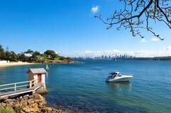 Baia dell'accampamento, Australia Fotografia Stock