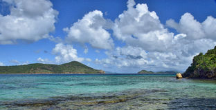 Baia dell'acqua da Sugar Bay Resort & dalla stazione termale, St Thomas Fotografie Stock Libere da Diritti