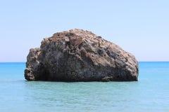 Baia dell'Afrodite nel Cipro Fotografie Stock Libere da Diritti