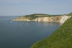 Baia dell'allume, isola del Wight Immagini Stock Libere da Diritti