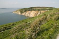 Baia dell'allume, isola del Wight Fotografia Stock Libera da Diritti