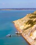 Baia dell'allume l'isola di Wight degli aghi Fotografia Stock
