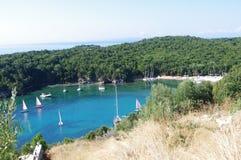 Baia dell'estremità, Mourtos, Grecia Fotografia Stock
