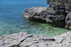 Baia della baia dello storione alla sosta del punto della caverna in Wisconsin Fotografia Stock