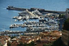 Baia della Monaco, Monte Carlo, città, Immagini Stock Libere da Diritti