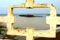 Baia della Praia in Capo Verde fotografia stock libera da diritti