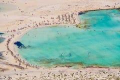 Baia della spiaggia di Balos Fotografia Stock