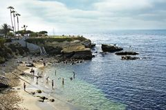 Baia della spiaggia di La Jolla Immagine Stock