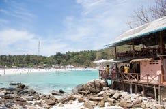 Baia della spiaggia di vista superiore Fotografia Stock Libera da Diritti