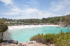 Baia della spiaggia di vista superiore Immagini Stock