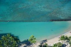 Baia della spiaggia di Waikiki Immagini Stock