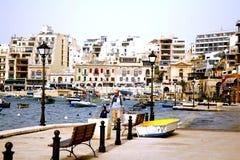 Baia della st Julian, Malta. fotografia stock libera da diritti