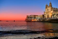 Baia della st Julians - Malta Fotografia Stock Libera da Diritti