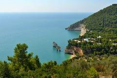 Baia delle Zagare - Gargano - Puglia. A beautiful place in Gargano, Puglia, called Baia delle Zagare Stock Photos