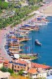 Baia di Alanya. La Turchia Fotografie Stock Libere da Diritti