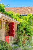 Baia di Arcachon, Francia, capanna dell'ostrica in un villaggio dell'ostrica Fotografia Stock Libera da Diritti