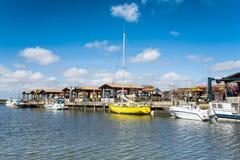 Baia di Arcachon, Francia, porto di Andernos Fotografie Stock Libere da Diritti