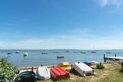 Baia di Arcachon, Francia, vista sopra la baia ad estate Immagine Stock Libera da Diritti