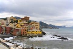 Baia di Boccadasse l, Genova fotografie stock