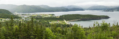 Baia di Bonne e verde Norris Point Fotografia Stock