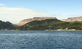 Baia di Bonne, Gros Morne National Park, Terranova e Labrador immagini stock libere da diritti