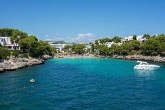 Baia di Cala Gran nel ` di Cala D o, in Mallorca, Balearic Island, Spagna fotografia stock