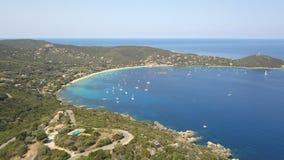 Baia di Campomoro, Corsica immagini stock