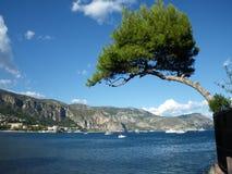 Baia di capo Ferrat vicino Nizza, alla Francia del sud Fotografia Stock Libera da Diritti