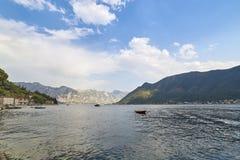 Baia di Cattaro da Perast, Montenegro Immagini Stock
