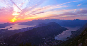 Baia di Cattaro - Montenegro Fotografia Stock Libera da Diritti
