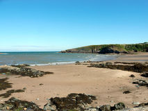 Baia di Cemaes, Anglesey, Galles fotografie stock