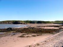Baia di Cemaes, Anglesey, Galles fotografia stock libera da diritti