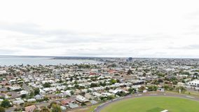 Baia di Corio, angolo di sud-ovest del porto Phillip dell'Australia fotografia stock libera da diritti