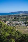 Baia di Estartit su Costa Brava della Catalogna Fotografie Stock