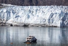 Baia di ghiacciaio d'esplorazione Fotografie Stock