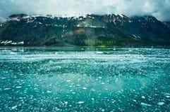 Baia di ghiacciaio nell'Alaska, Stati Uniti Fotografia Stock